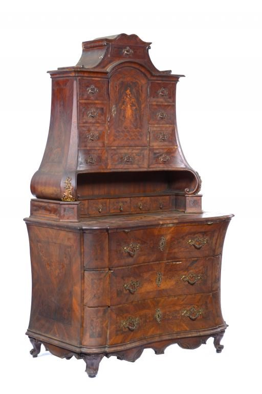 A FINE AND RARE SOUTH GERMAN WALNUT CABINET Image