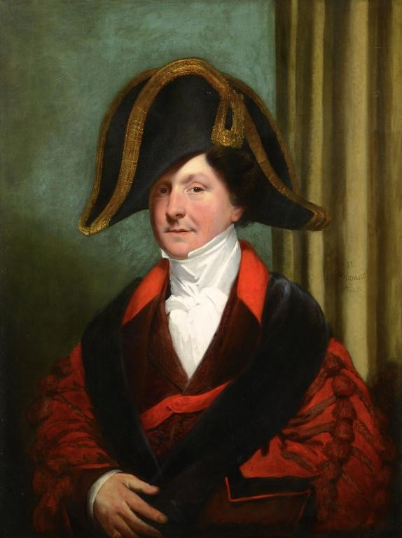 WILLIAM WOODGATE (1804-1861) PORTRAIT OF CITY OF LONDON TOASTMASTER AND MASTER OF CEREMONIES JAMES T Image