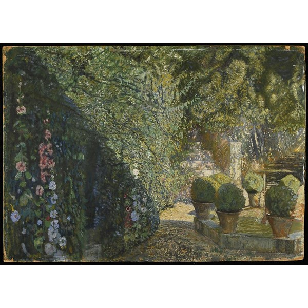 ISAAK IZRAILEVICH BRODSKY (1884-1939)  THE FOUNTAIN  signed Image