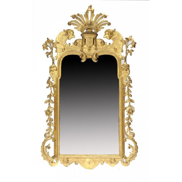 A GEORGE I GILT GESSO MIRROR IN THE MANNER OF JAMES MOORE AND JOHN GUMLEY Image