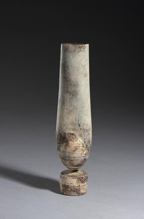 HANS COPER (1920-1981) STONEWARE ELONGATED FORM ON BASE Image