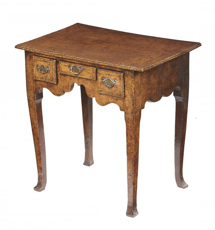 A GEORGE III BURR ELM LOWBOY OF UNUSUAL SMALL SIZE Image
