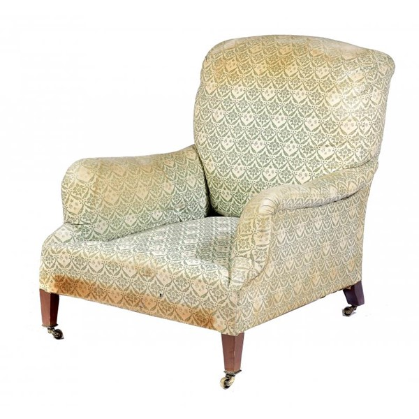 A VICTORIAN ARMCHAIR BY HOWARD OF BERNERS STREET Image