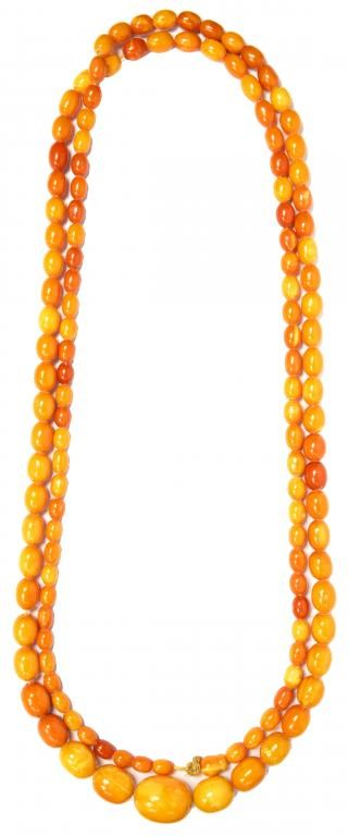 A NECKLACE OF AMBER BEADS  93g Image