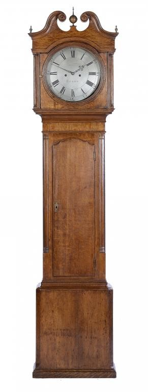 AN OAK  EIGHT DAY LONGCASE CLOCK BY JOHN WHITEHURST Image