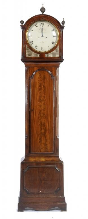 A GEORGE IV MAHOGANY EIGHT DAY LONGCASE CLOCK Image