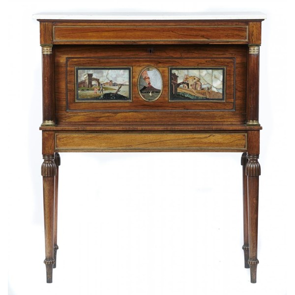 A REGENCY GILT BRASS MOUNTED ROSEWOOD WRITING CABINET Image