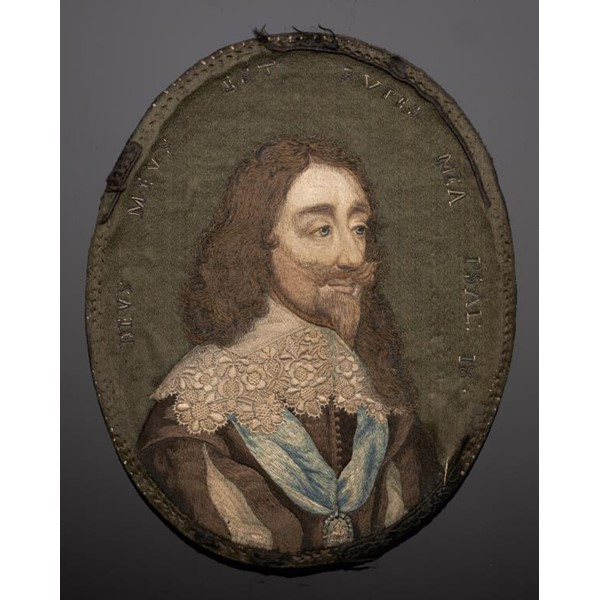 A FINE ENGLISH EMBROIDERED MINIATURE OF CHARLES I Image