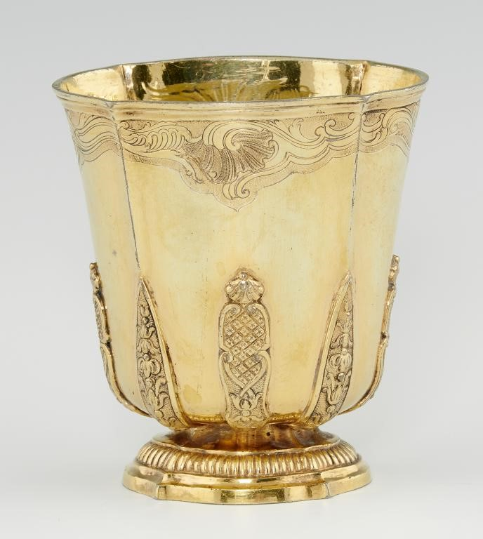 A FRENCH SILVER GILT BEAKER of slightly flared Image