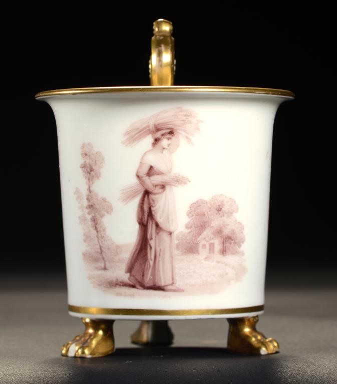 A RARE SWANSEA CABINET CUP DECORATED BY THOMAS BAXTER Image
