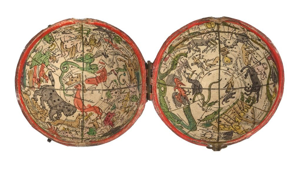 AN ENGLISH 2 3/4INCH   POCKET GLOBE PUBLISHED BY NATHANIEL HILL Image