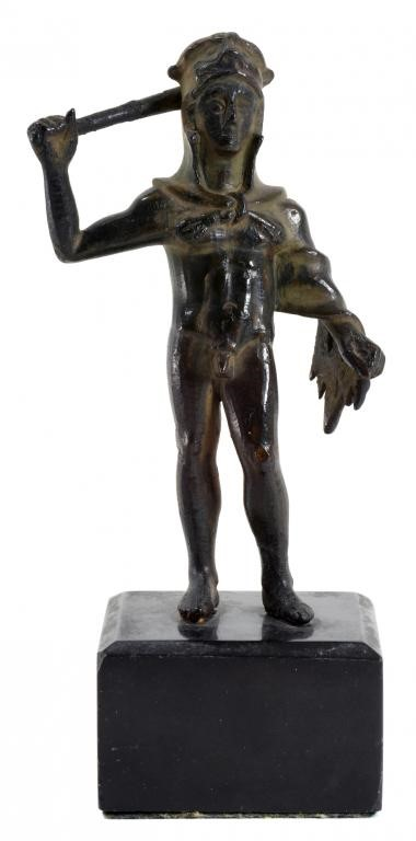 AN ETRUSCAN  BRONZE STATUETTE OF HERAKLES Image
