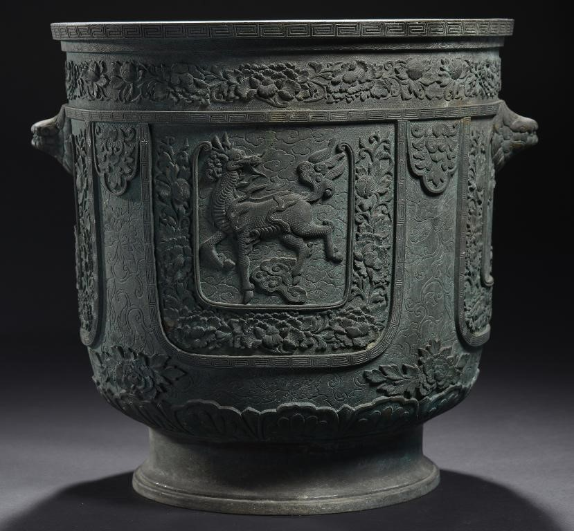 A CHINESE BRONZE JARDINIERE Image