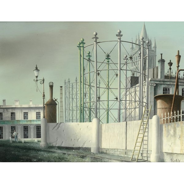 †FELIX KELLY (1914-1994) GASWORKS AND TRURO CATHEDRAL  signed Image