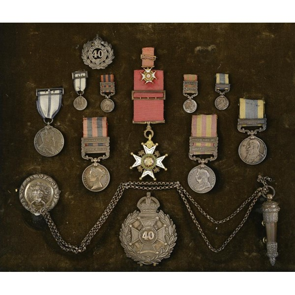 THE ORDER AND MEDALS OF COLONEL G R CRAWFORD Image