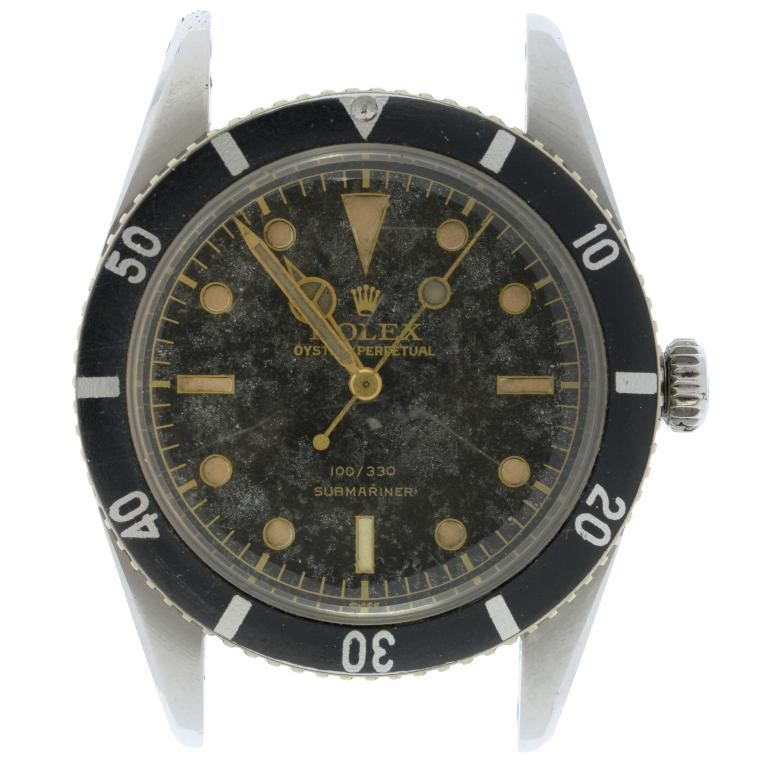 A ROLEX STAINLESS STEEL WRISTWATCH SUBMARINER  Ref 6536/1 Image