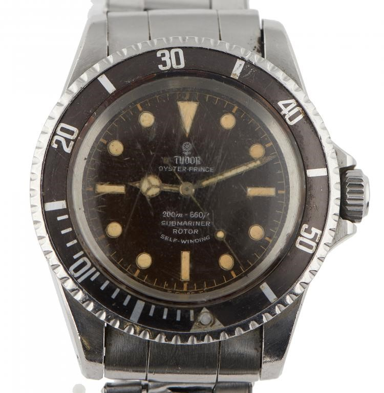 A ROLEX TUDOR STAINLESS STEEL WRISTWATCH OYSTER-PRINCE SUBMARINER  Ref 7928 Image
