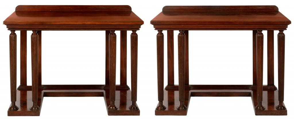 A PAIR OF ENGLISH MAHOGANY PIER TABLES Image